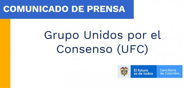 Comunicado del Grupo Unidos por el Consenso (UFC)