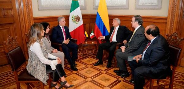 Con el Presidente de México hablamos de la posibilidad de fortalecer la relación para combatir a los carteles de la droga con la UIAF: Presidente Iván Duque