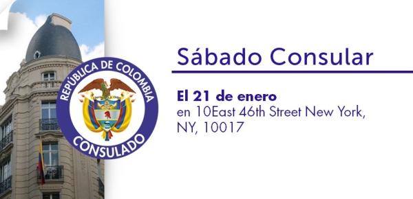 Consulado de Colombia invita al sábado Consular del 21 de enero de 2017