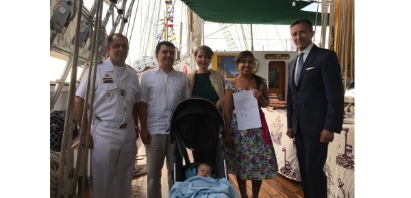 Primer colombiano registrado a bordo del Buque A.R.C. Escuela Gloria