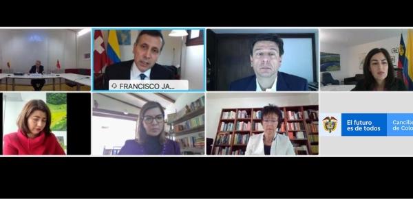 Colombia y la Confederación Suiza celebraron la VII ronda de Consultas Políticas