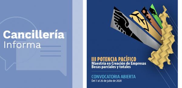 La Academia Diplomática Augusto Ramírez Ocampo divulga la convocatoria a la Maestría en Creación de Empresas del Programa Potencia Pacífico