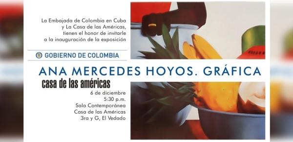 Embajada de Colombia en Cuba presenta obra de Ana Mercedes Hoyos en la Casa de las Américas