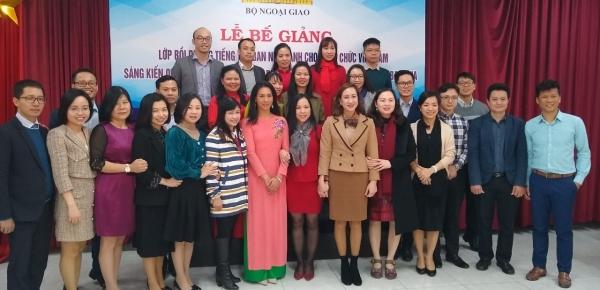 Clausura de la segunda versión del Curso de Español para la difusión de la Cultura Colombiana en Vietnam