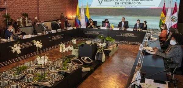 En reunión convocada por la Presidencia Pro Témpore colombiana de la CAN, los órganos e instituciones de la CAN se comprometen a fortalecer