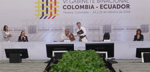 Declaración de Pereira del VI Gabinete Colombia - Ecuador y Logros de la reunión