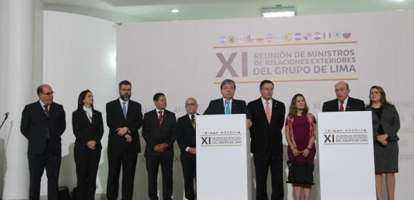 Declaración del Grupo de Lima en apoyo al proceso de transición democrática de Venezuela