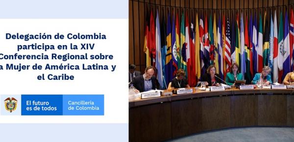 Delegación de Colombia participa en la XIV Conferencia Regional sobre la Mujer de América Latina
