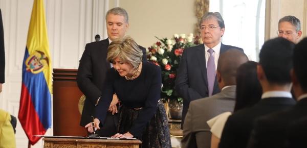 La nueva Embajadora de Colombia ante Jamaica, Diana Patricia Aguilar Pulido, se posesionó ante el Presidente Iván Duque Márquez