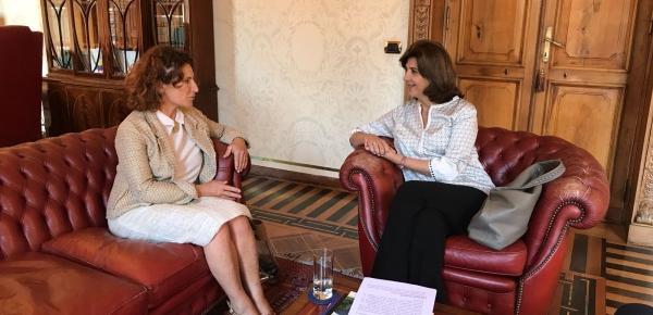 Canciller Holguín se reunió con la Directora para América Latina del Ministerio de Asuntos Exteriores y Cooperación Internacional de Italia, Antonella Cavallari