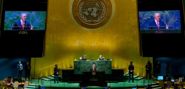 Discurso del Presidente de la República de Colombia, Iván Duque Márquez, ante la Asamblea General de las Naciones Unidas en el periodo 76° de sesiones