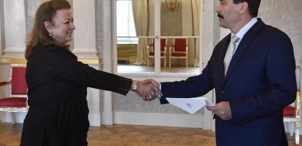 La Embajadora de Colombia en Hungría presentó sus cartas credenciales al Presidente de Hungria