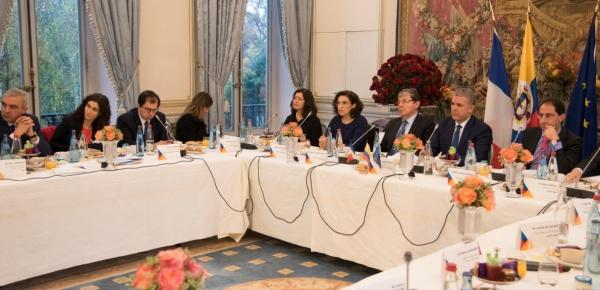 Presidente Duque, acompañado por el Canciller Trujillo, expuso la agenda económica de su Gobierno ante empresarios de Francia
