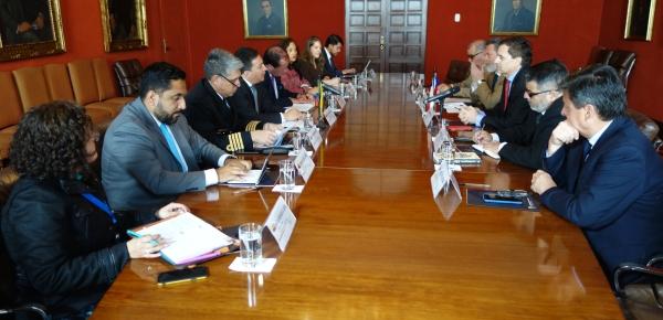 Colombia y Chile desarrollaron la II Reunión de Consultas Bilaterales sobre Asuntos Antárticos