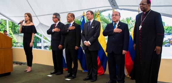 Embajada de Colombia en El Salvador conmemoró el Día de la Independencia Nacional con una ofrenda floral y una recepción oficial