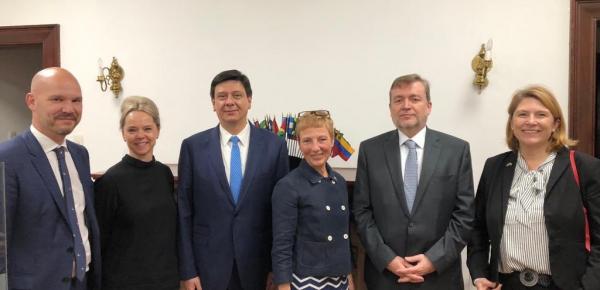 Asuntos multilaterales fueron abordados por delegaciones de las cancillerías de Colombia y Suecia