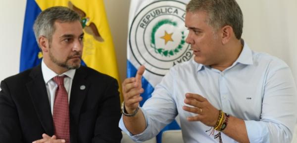 Presidente Iván Duque sostuvo una reunión bilateral con su homólogo de Paraguay, Mario Abdo Benítez, en Cúcuta