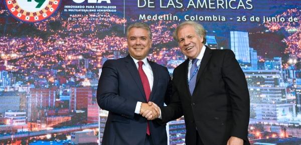Un triunfo para la democracia: Colombia acoge con beneplácito la reelección de Luis Almagro como Secretario General de la OEA