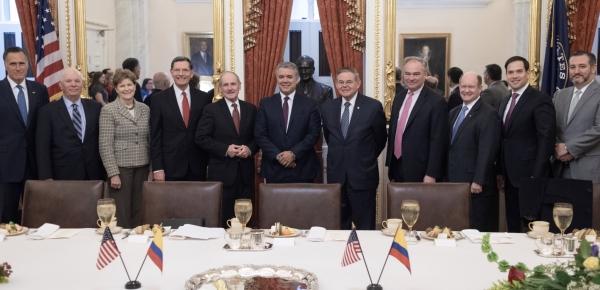 Comité de Relaciones Exteriores del Senado de los Estados Unidos reafirmó su apoyo al Gobierno de Colombia, en el encuentro con el Presidente Iván Duque y el Canciller Carlos Holmes Trujillo