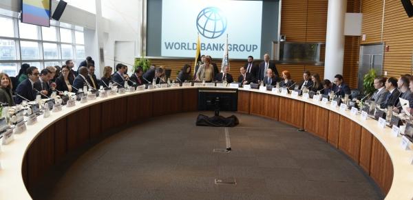 El jefe de Estado de Colombia, Iván Duque, y su delegación se reunieron con la Presidenta (e) del Banco Mundial Interamericano, Kristalina Georgieva