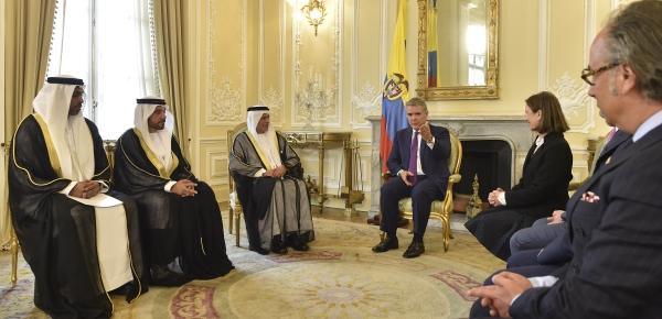 Presidente Iván Duque Márquez recibió las cartas credenciales del Embajador de Emiratos Árabes Unidos en Colombia, Salem Rashed Alowais