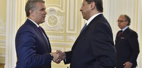 Embajador de Egipto en Colombia, Sami Mahmoud Ali Salem, presentó cartas credenciales ante el Presidente Iván Duque Márquez