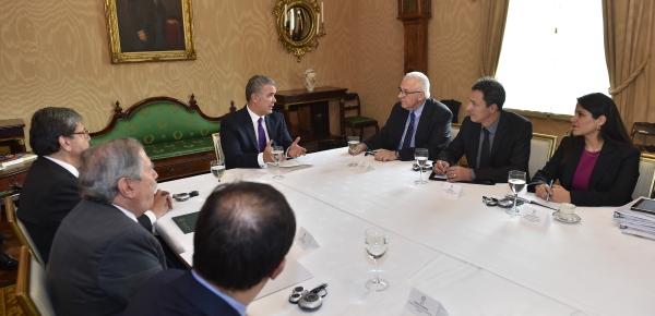 Canciller Trujillo acompañó al Presidente Iván Duque en el encuentro que sostuvo con el Fiscal Adjunto de la Corte Penal Internacional, James Stewart