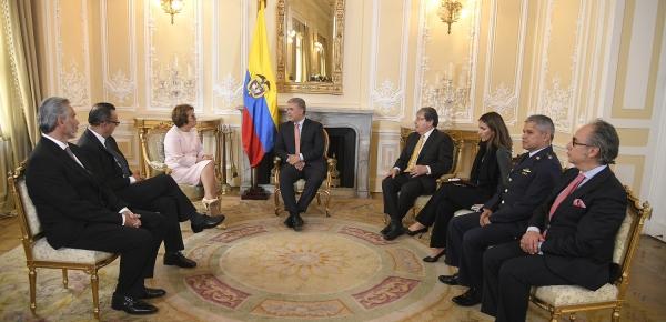 La Embajadora de Costa Rica en Colombia, María Fullmen Salazar, presentó cartas credenciales al Presidente Iván Duque