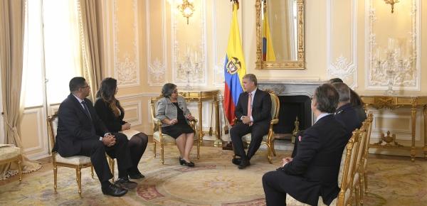 La nueva Embajadora de Honduras en Colombia, María Antonia Navarro Bustillo, presentó cartas credenciales ante el Presidente Iván Duque