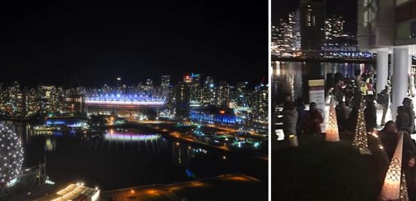 Consulado de Colombia en Vancouver logró que en el Día de las Velitas el British Columbia Place se iluminara con la bandera tricolor
