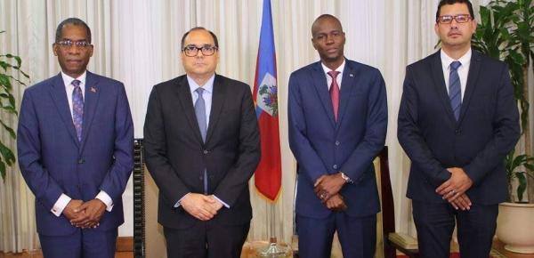 El Embajador de Colombia, José Antonio Segebre Berardinelli, presentó cartas credenciales ante el presidente de Haití