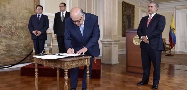 Presidente Iván Duque posesionó al Embajador de la República Federativa de Brasil