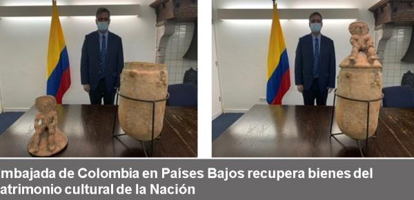 Embajada de Colombia en Países Bajos recupera bienes del patrimonio cultural +