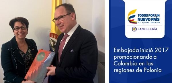 Embajada inició 2017 promocionando a Colombia en las regiones de Polonia