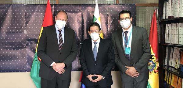 Embajador Aníbal Ariza se reunió con Viceministro de Comercio de Bolivia