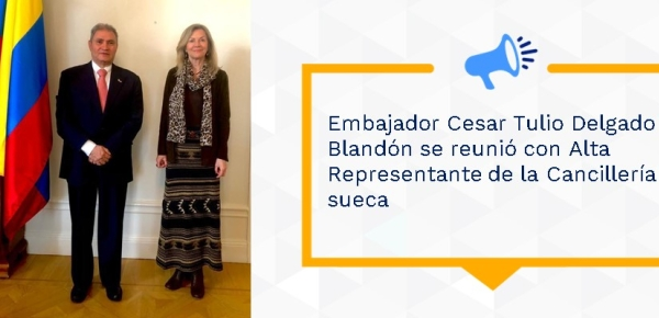 Embajador Cesar Tulio Delgado Blandón se reunió con Alta Representante de la Cancillería