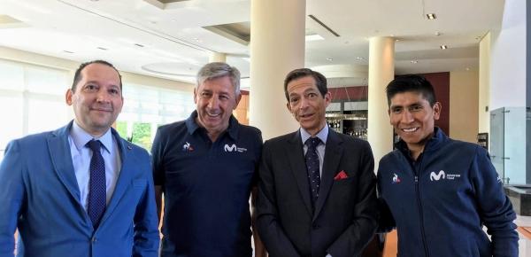 El Embajador de Colombia en Bélgica saludó al ciclista colombiano Nairo Quintana