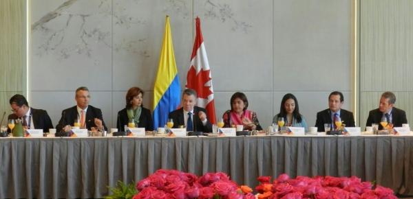 Presidente Juan Manuel Santos se reunió con inversionistas y presidentes de empresas canadienses en un evento organizado por la Embajada de Colombia en Canadá y ProColombia