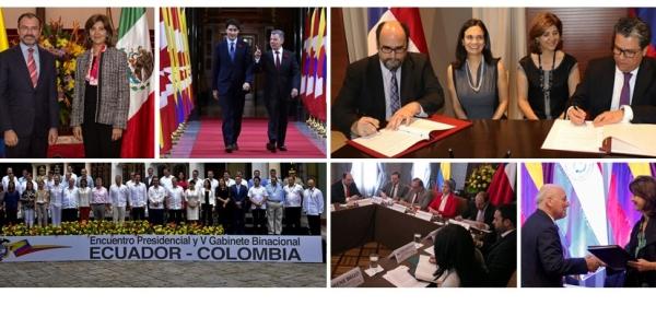 El 2017, Colombia consolidó agenda bilateral con países de América