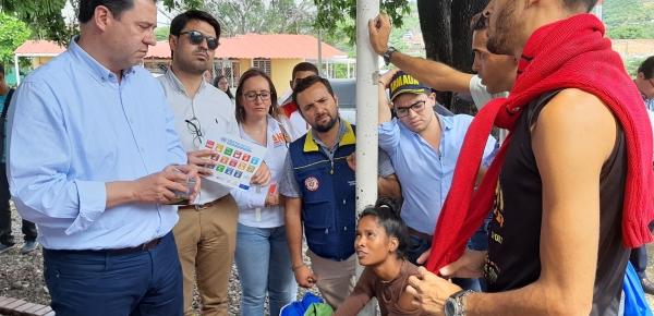 En puesto de mando unificado, Gerencia de Frontera con Venezuela y Cancillería evaluaron la atención humanitaria ofrecida a 'caminantes' en Santander
