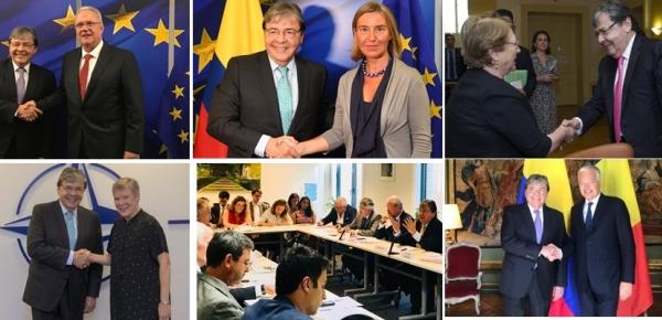 Resumen de la gira por Ginebra, Bruselas y Madrid del Canciller Carlos Holmes Trujillo
