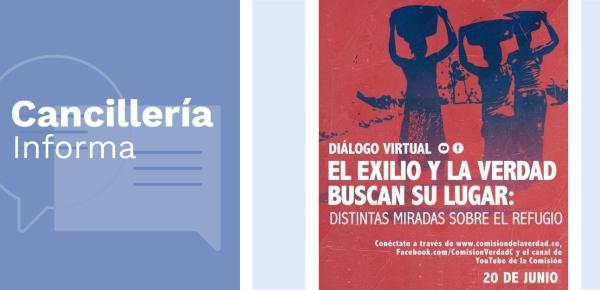Cancillería invita a colombianos víctimas en el exterior al panel internacional virtual que realizará la Comisión de la Verdad, en el marco del Día Mundial de las Personas Refugiadas