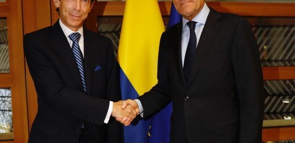 El Embajador de Colombia ante el Reino de Bélgica, Felipe Garcia Echeverri, presentó cartas credenciales ante el Presidente del Consejo Europeo