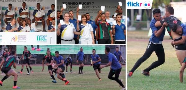 Resumen de noticias de la final del Torneo Rugby, iniciativa de Diplomacia Deportiva y Cultural de la Cancillería, en la que participaron la Cancilelr Holguín,   Didier Drogba y el Príncipe Alberto II de Mónaco
