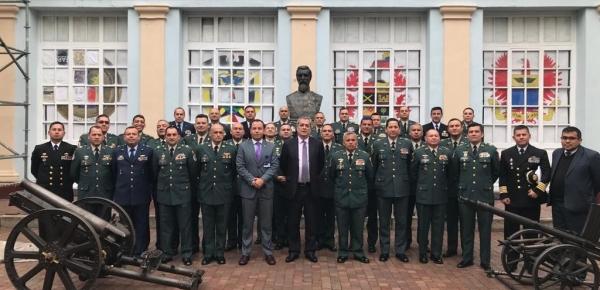Director de la Academia Diplomática inauguró el módulo de la Cancillería del Curso de Agregados Militares