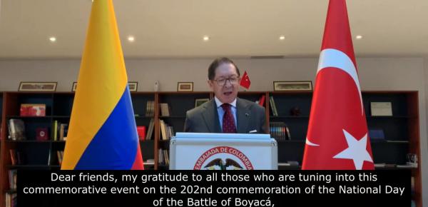 El Embajador Julio Aníbal Riaño resaltó la agenda bilateral entre Colombia y Turquía en el evento concierto realizado