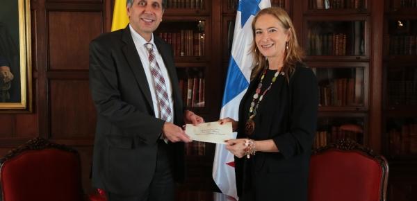 Viceministro de Relaciones Exteriores recibió copia de cartas credenciales de la Embajadora de Panamá en Colombia