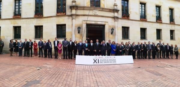 Foto ampliada de la reunión del Grupo de Lima que se realizó en el Ministerio de Relaciones Exteriores