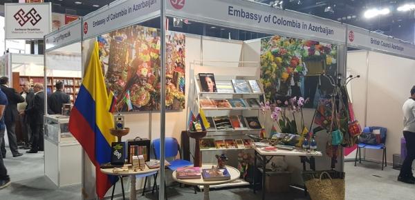 La Embajada de Colombia en Azerbaiyán participó en la V Feria Internacional del Libro de Bakú