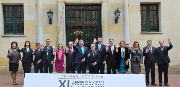 Foto oficial de la XI Reunión de Ministros de Relaciones Exteriores de Lima